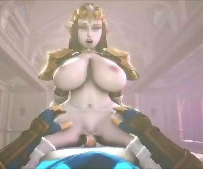 Princess Zelda titfucks and..