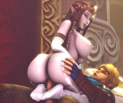 Big-Titted Zelda Rides Links..